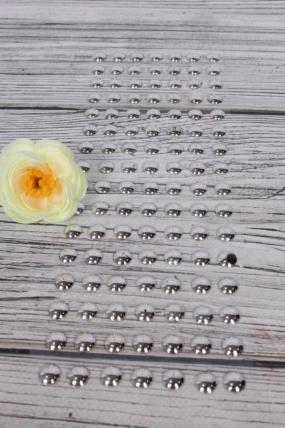 Наклейки на листе 10 мм серебро по 144шт DZ556S