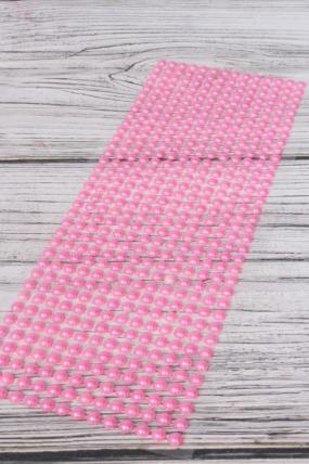 Наклейки на листе светло-розовые матовые 6 мм 504 шт  DZ6AB-9