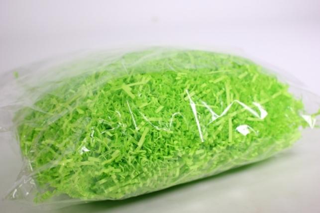 наполнитель бумажный-волна зеленый неон (44) 100гр
