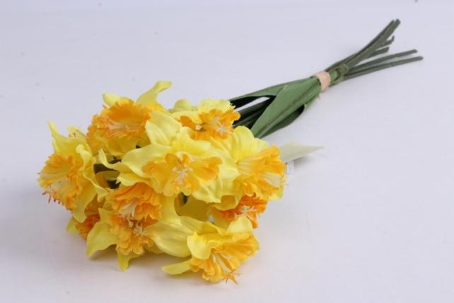нарцисс букет 39 см (5 шт в уп) жёлтый liu205