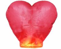 Небесный китайский фонарик - Сердце (красный) 100х85х45см