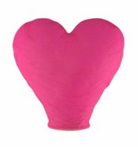 Небсный китайский фонарик - Сердце (розовый) 100х85х45см