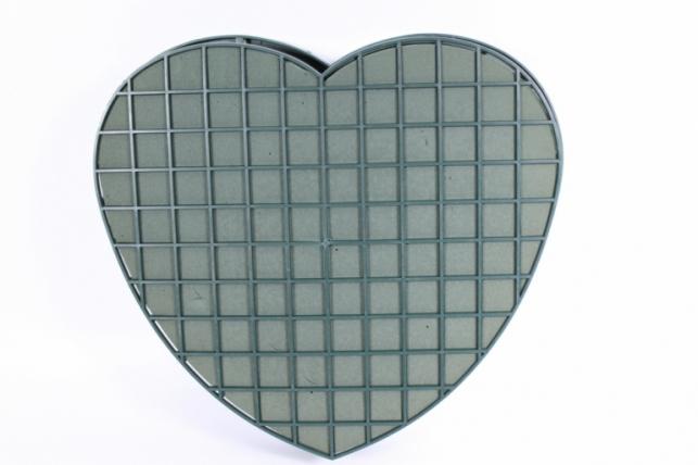оазис для живых цветов (сердце на пластике на магните) d=32.5см