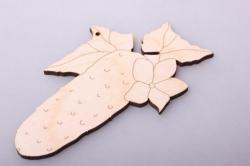 огурец с листиком 11х6см, фанера 4мм  006005