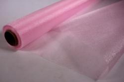Органза-снег в рулоне 70см*10м Светло-розовый №14 (МН)