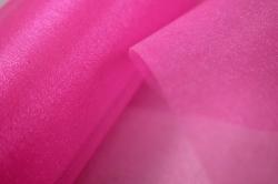 органза-снег в рулоне 70см*10м ярко-розовый №46 (мн)