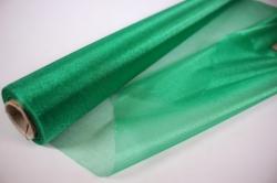 органза-снег в рулоне 70см*10м зелёный №32 (мн)