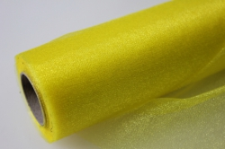 органза-снег в рулоне (70см х 10м) желтый 2053