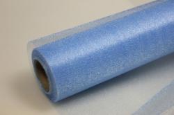 Органза-снег в рулоне (70см х 10м) Голубой 9373