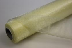 органза-снег в рулоне (70см х 10м) кремовый 2084