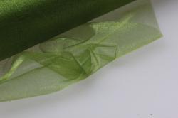 органза-снег  в рулоне 70см х 10м оливковая 9366