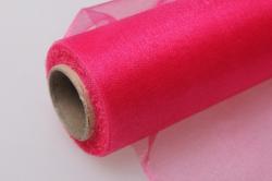 органза-снег в рулоне 70см х 10м  розовая 2077