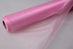 органза-снег в рулоне (70см х 10м) светло-розовая 2039