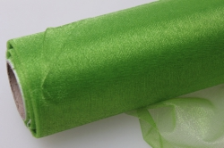органза-снег в рулоне 70см х 10м  зелёное яблоко 2046