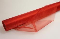 органза-снег в рулоне (70см х10м) красный 2060