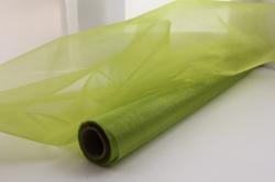 Органза в рулоне 70см*10м зеленое яблоко 030