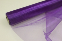 Органза в рулоне (70см х 10м) Темно-фиолетовый 065