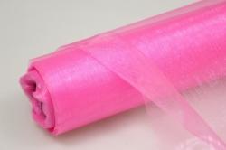 органза в рулоне (70см х 10м) ярко-розовая 046