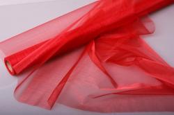 Органза в рулоне 70см х 9м Красный 1005