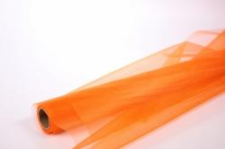 Органза в рулоне 70см х 9м Оранжевый 1004