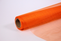 декоративная сетка 1004 органза в рулоне 70см х 9м оранжевый