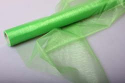 Органза в рулоне 70см х 9м Зеленый 1014
