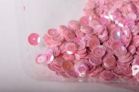 Пайетки ярко-розовые 6мм 17гр