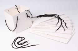 Пакет для цветов Квадрат 20*20*19см  (10 шт в уп) Белый
