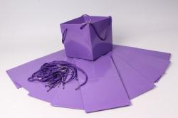 Пакет для цветов Квадрат 20*20*19см  (10 шт в уп) Фиолетовый