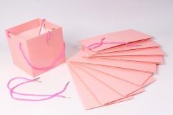 Пакет для цветов Квадрат 20*20*19см  (10 шт в уп) Розовый