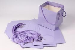 Пакет для цветов Квадрат 20*20*19см  (10 шт в уп) Сиреневый