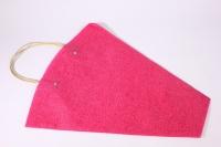 Пакет для цветов с ручками (фетр), 40х12х45см (в уп. 10шт.), малиновый