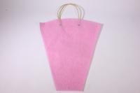 Пакет для цветов с ручками (фетр), 40х12х45см (в уп. 10шт.), розовый