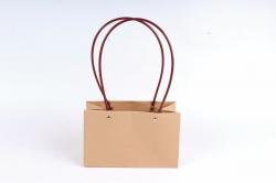 """Пакет подарочный """"Классический"""" прямоугольный, крафт,  бурый 1шт 2260 М"""