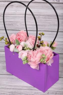 """Пакет подарочный """"Мастхэв"""" прямоугольный, 22х10х13 см, 10 шт./упак., фиолетовый 0543М"""