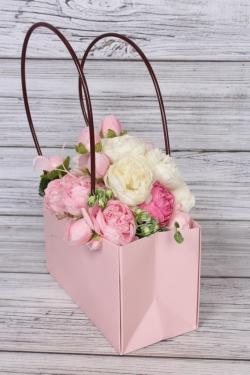 """Пакет подарочный """"Мастхэв"""" прямоугольный, 22х10х13 см, 10 шт./упак., розовый 0499М"""