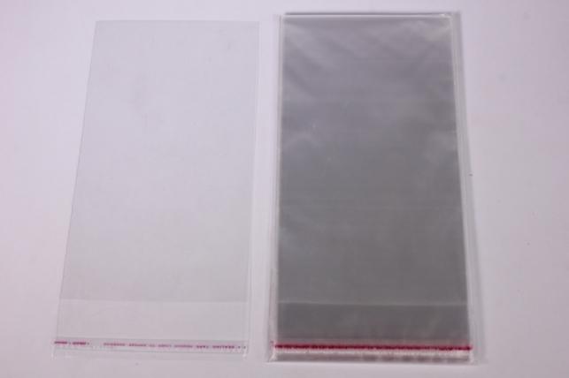 Пакет прозрачный со скотчем 10х10см (50 шт в уп)