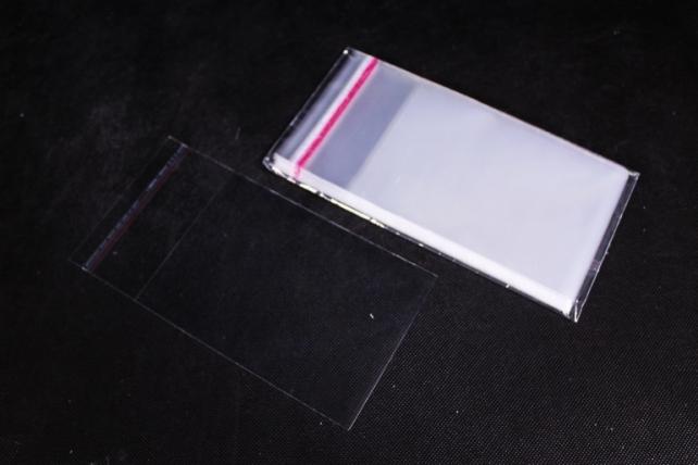 Пакет прозрачный со скотчем 12х17см (50 шт в уп)