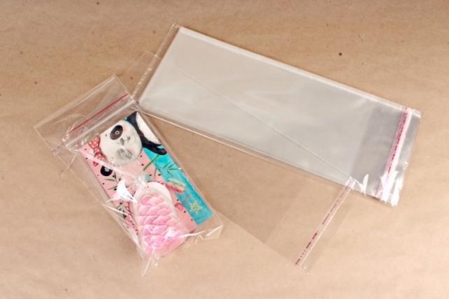 Пакет прозрачный со скотчем 12х27см (50 шт в уп)