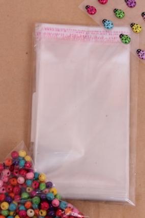 Пакет (Р) прозрачный со скотчем 15х10см (100 шт в уп)