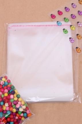 Пакет (Р) прозрачный со скотчем 15*14см (100 шт в уп)