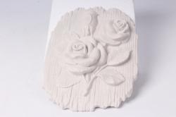 Панно из гипса Роза (20*15*3см) 08-П