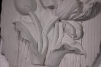 панно из гипса тюльпан (20*15*3см) 02-п