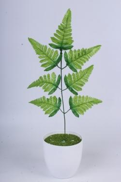 Папоротник лист 40 см - Искусственное растение