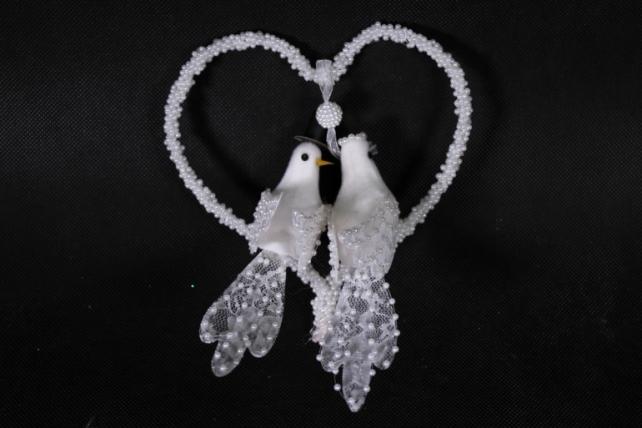 Пара голубей с сердцем  Арт. 283891  9085