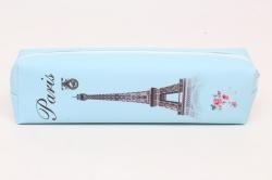 Пенал Эйфелева башня голубая 1шт 20см