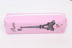 Пенал Эйфелева башня розовая 1шт 20см