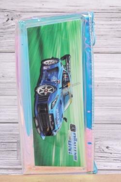 Пенал разноцветный Машина синяя 1шт 22x10см