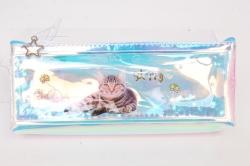 Пенал с водой Кот Happy 1шт 23х9см