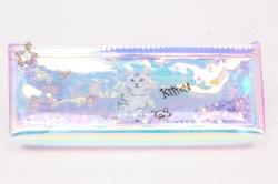 Пенал с водой Кот с мышкой 1шт 23х9см